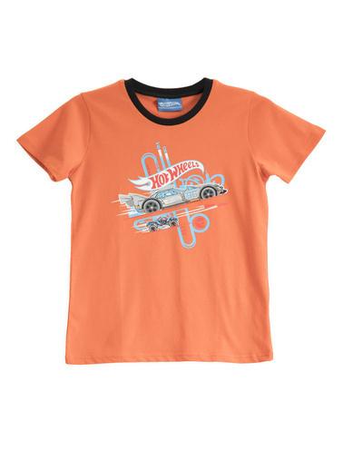 Hot Wheels Hot Wheels Lisanslı Mint Erkek Çocuk T-Shirt Kiremit